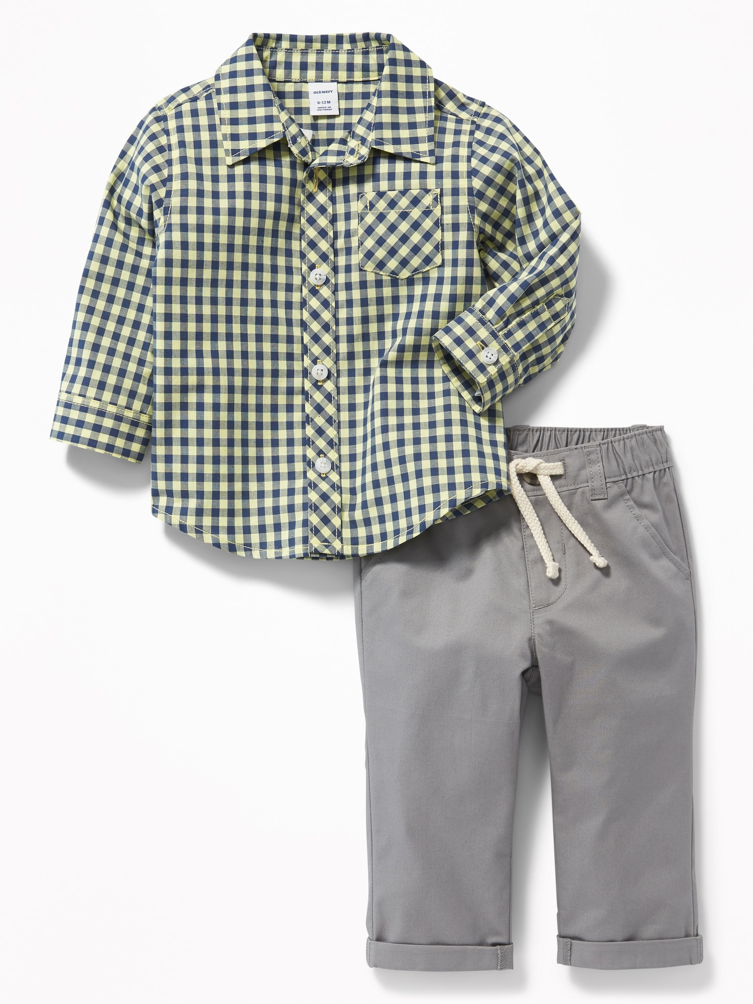 b00270c2c056c Patterned Shirt   Twill Chinos Set for Baby