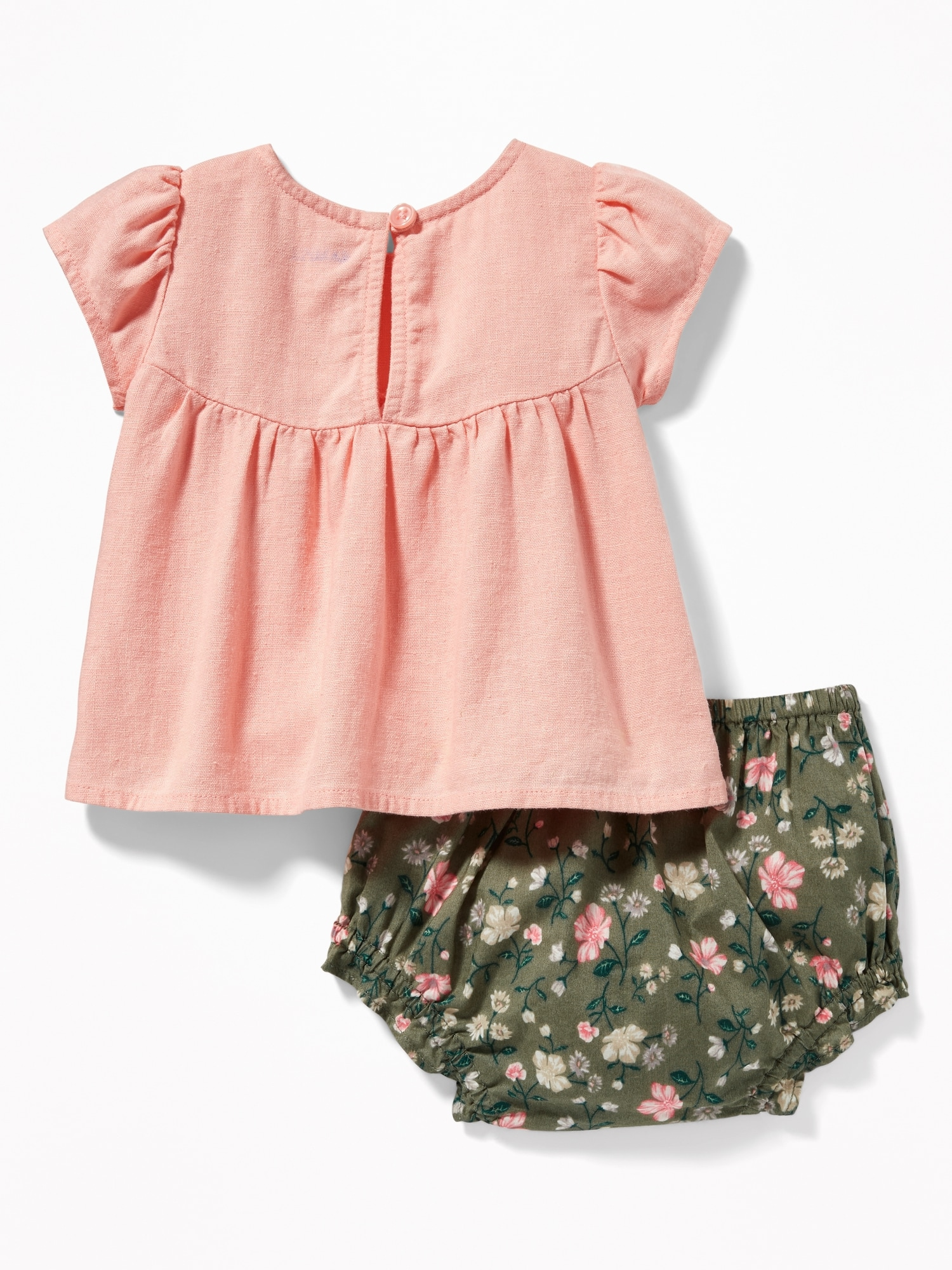 7cda01794 Linen-Blend Top & Bloomers Set for Baby | Old Navy