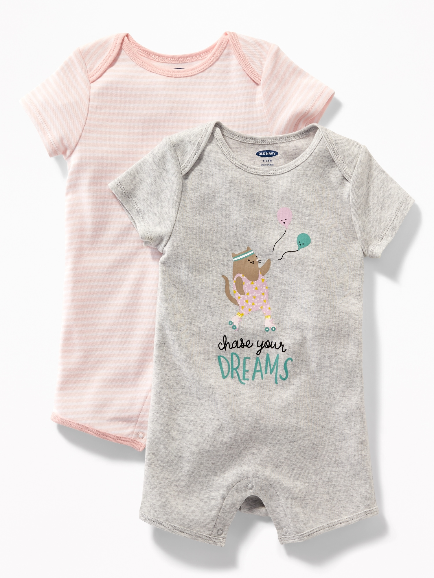 3042aad34046 2-Pack Graphic One-Piece for Baby | Old Navy