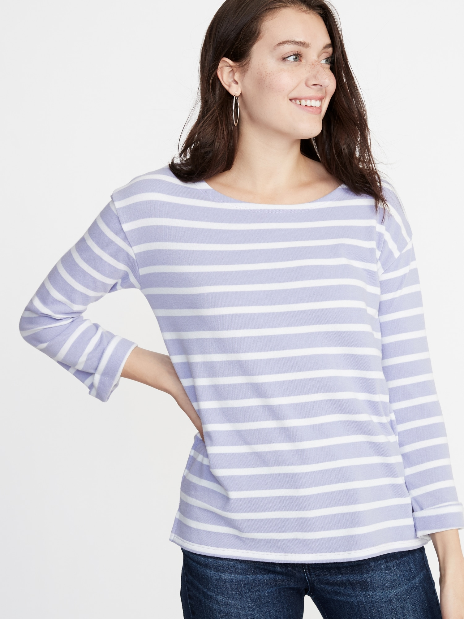 30373794850 Relaxed French-Terry Tee for Women