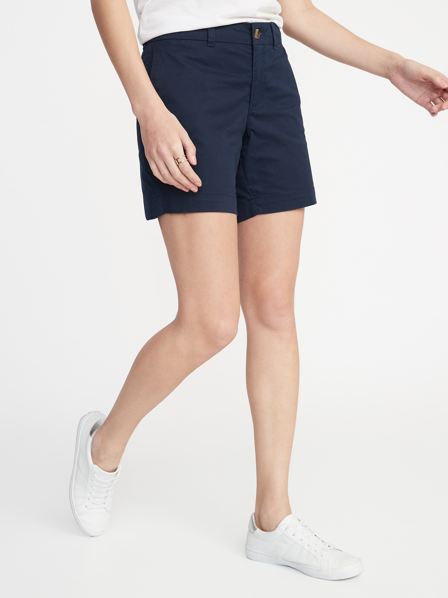 83212a71b3d Mid-Rise Twill Everyday Shorts for Women - 7-inch inseam