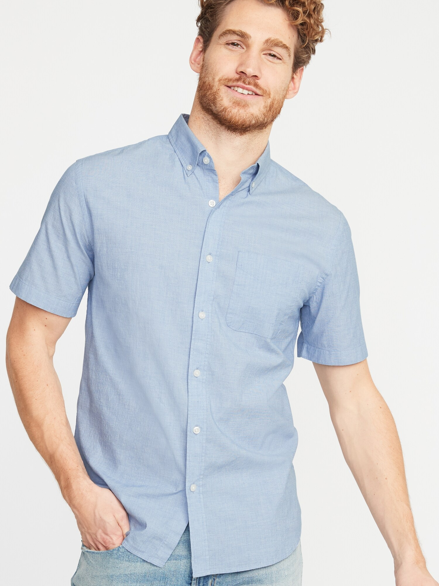 e016f774279 Slim-Fit Built-In Flex Everyday Shirt for Men