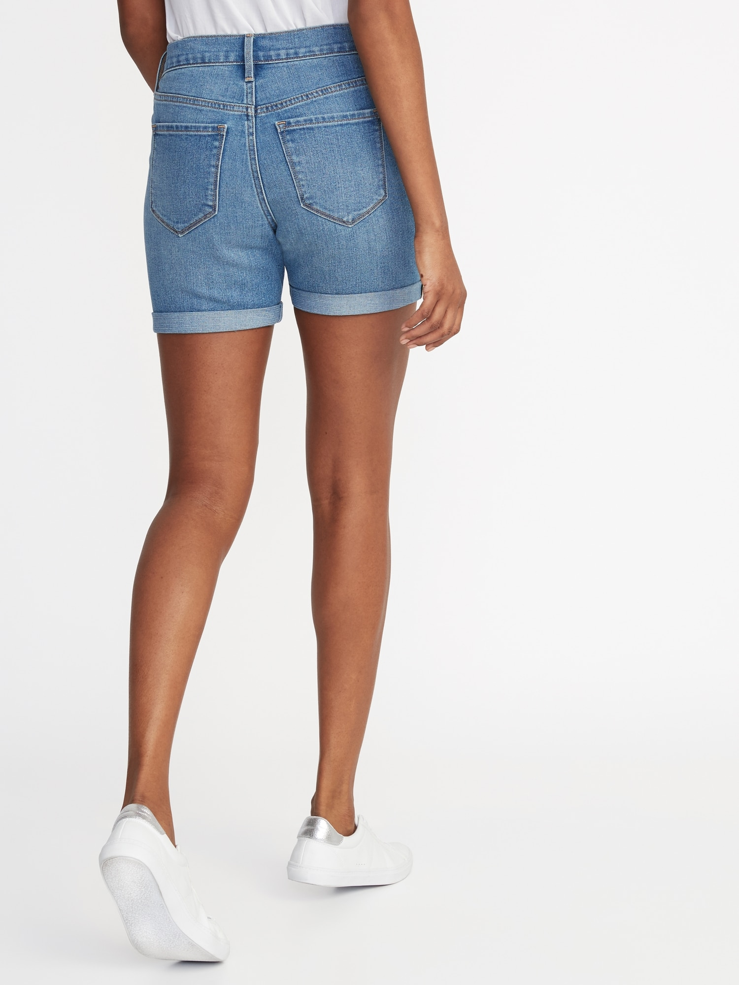 04a257766e Mid-Rise Denim Shorts for Women -- 5-inch inseam   Old Navy