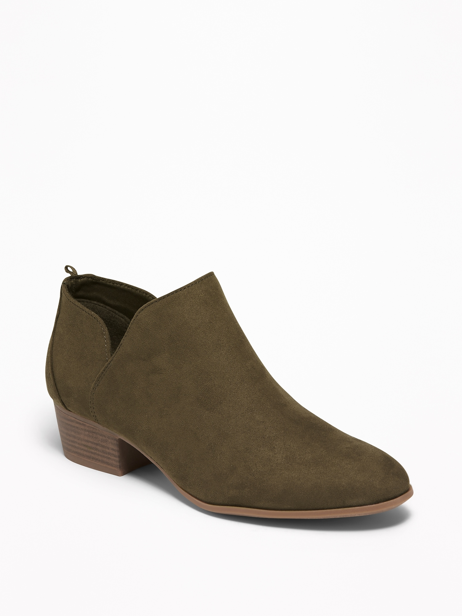 76f24e12a71e Faux-Suede Low-Heel Booties for Women