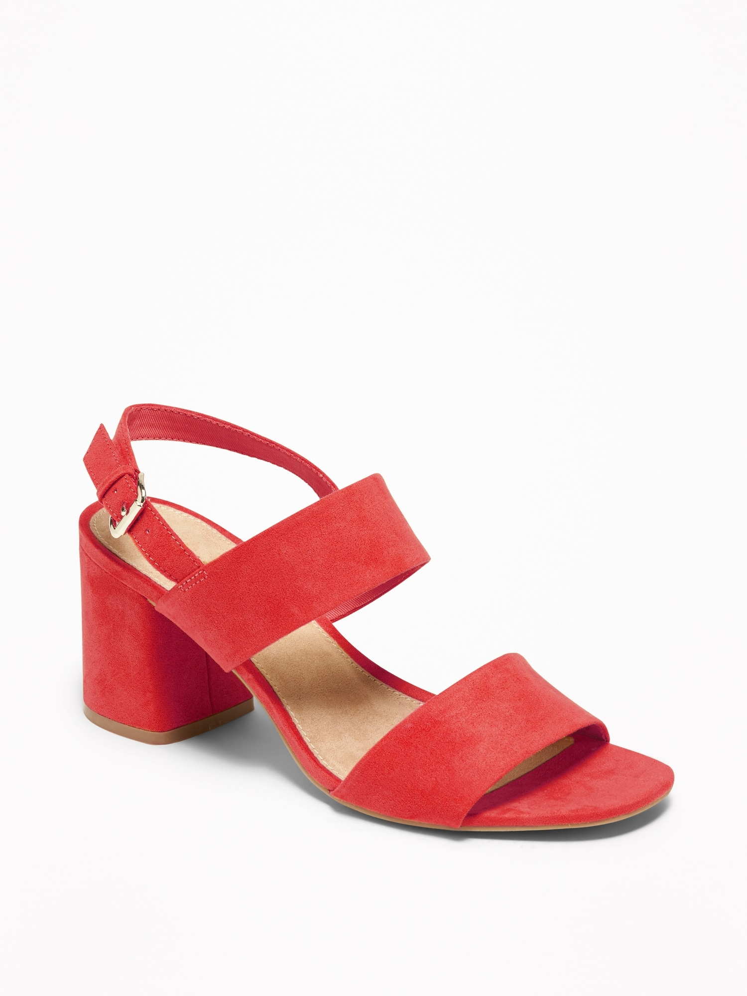bf6ca0879ef Faux-Suede Slingback Block-Heel Sandals for Women | Old Navy