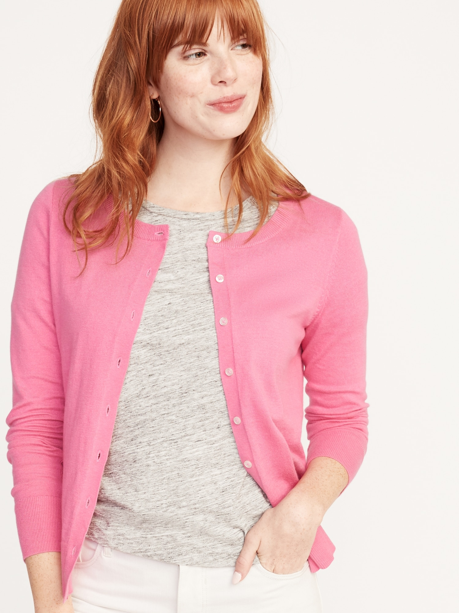 2acaad28b Semi-Fitted Button-Front Cardi for Women | Old Navy