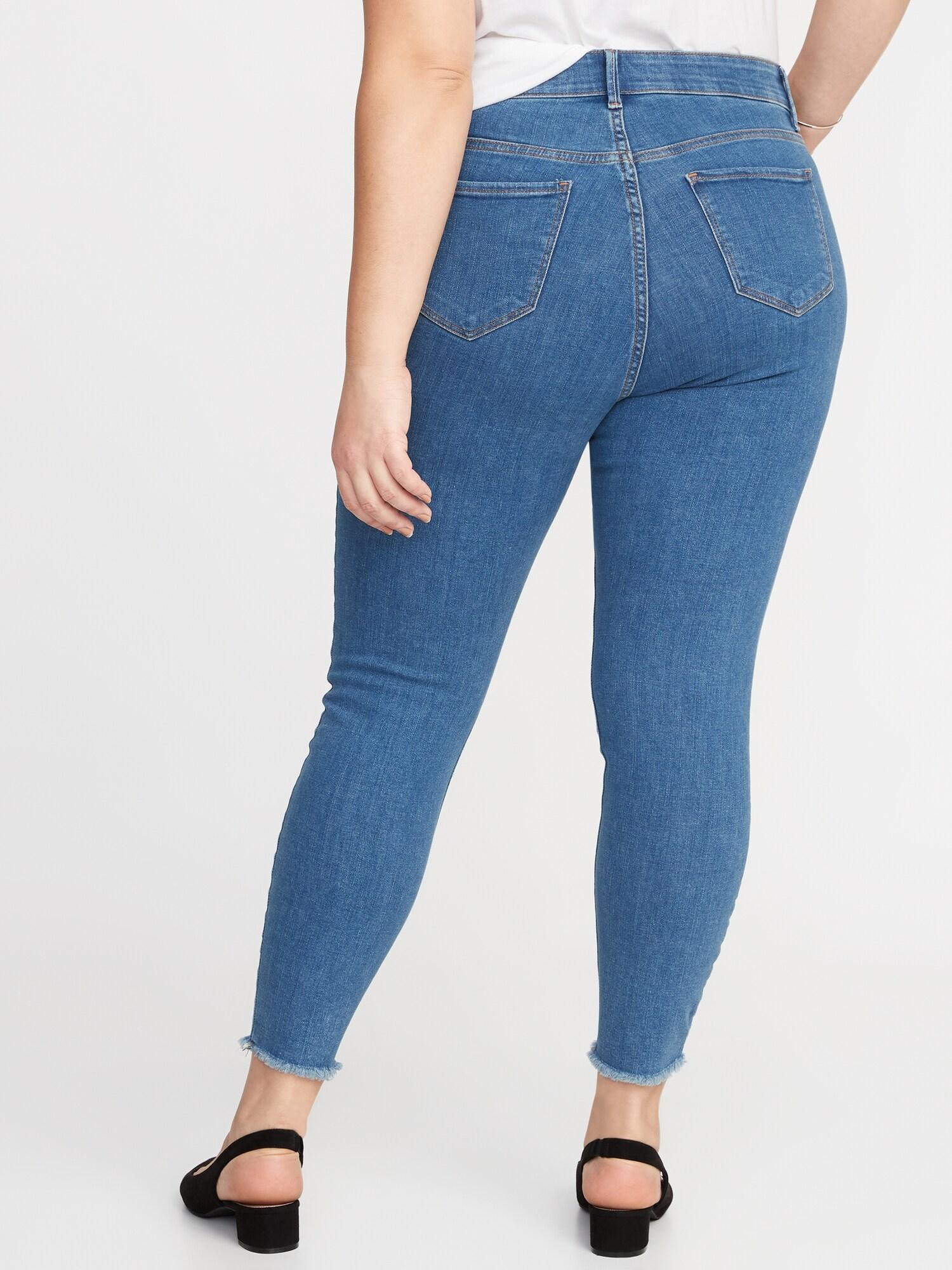 a5dca3a8f99 High-Rise Secret-Slim Pockets + Waistband Rockstar Plus-Size Super Skinny  Ankle Jeans