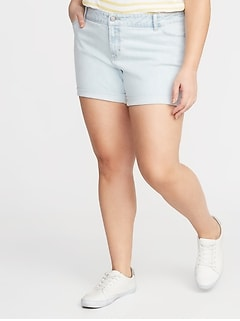Boyfriend Plus-Size Jean Shorts - 5-Inch Inseam