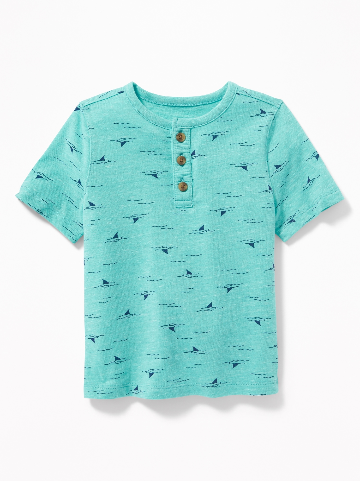 5daa146c6 Printed Slub-Knit Henley for Toddler Boys | Old Navy