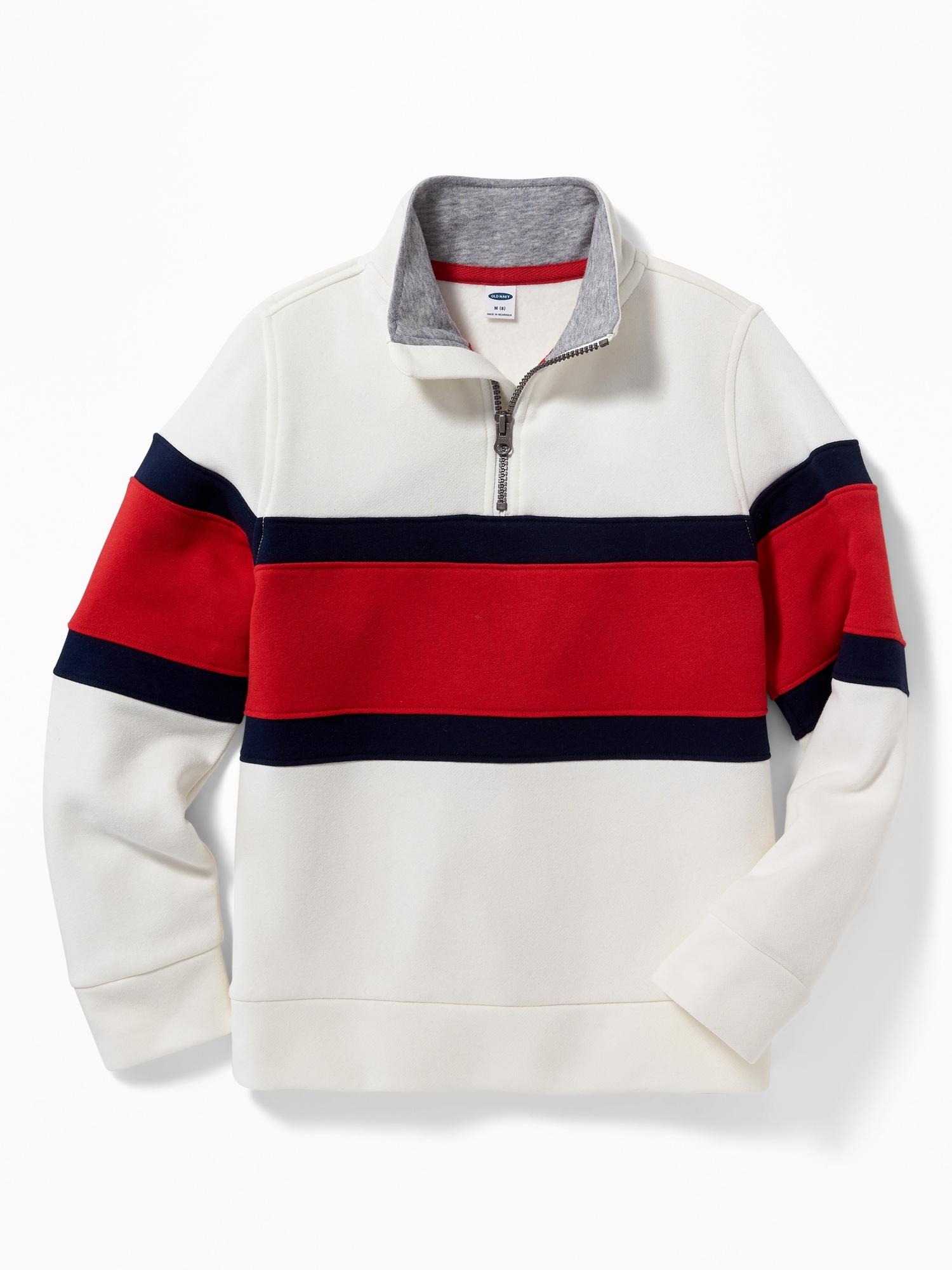 b5d6c5cee Color-Blocked 1 4-Zip Mock-Neck Sweatshirt for Boys