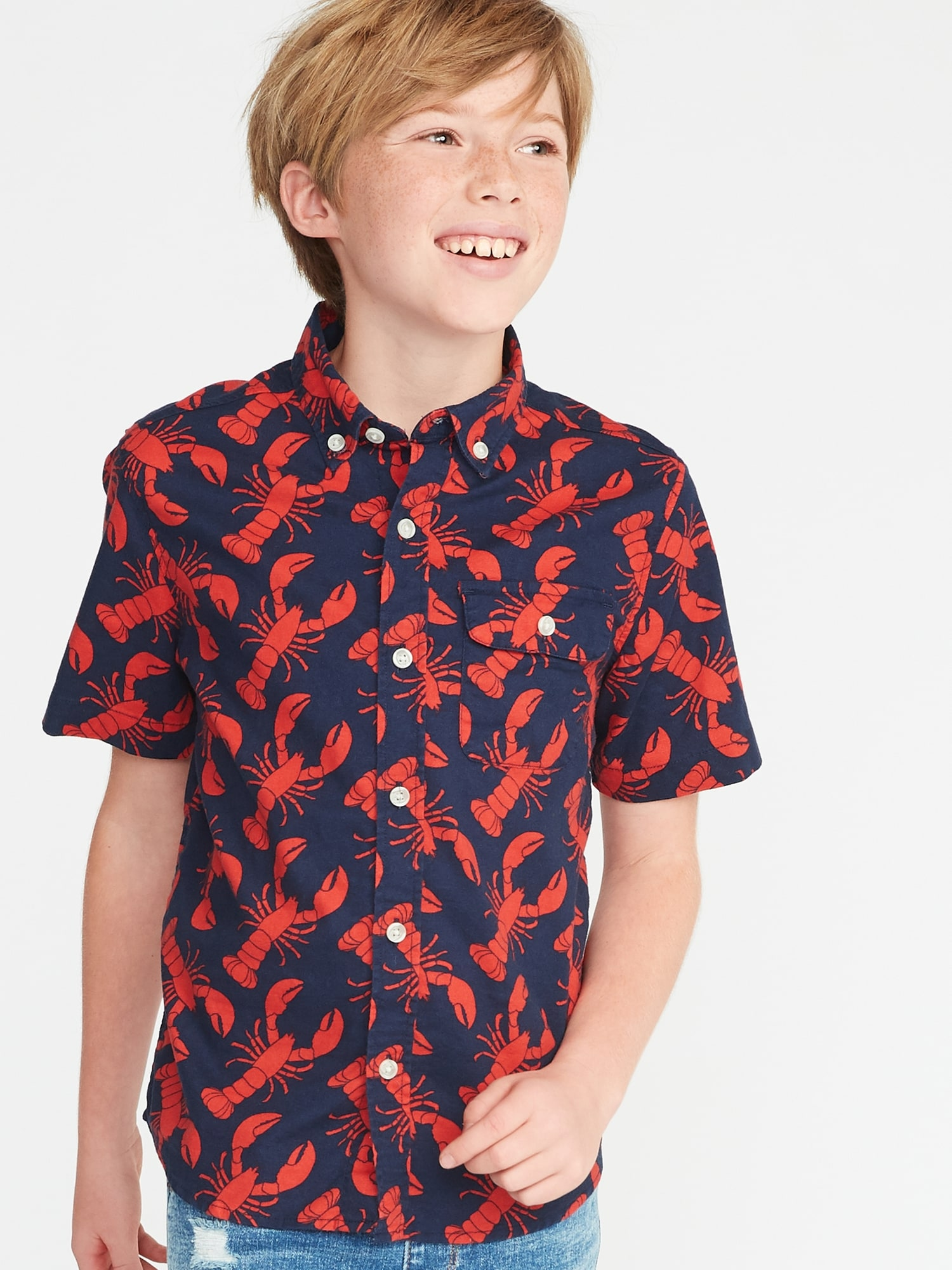 579e13ab Classic Built-In Flex Oxford Shirt for Boys | Old Navy