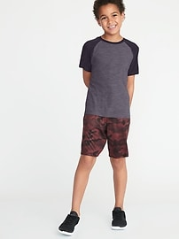 Ultra-Soft Breathe ON Go-Dry Built-In Flex Color-Blocked Tee for Boys