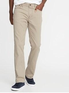 Pantalon semi-évasé en sergé à cinq poches pour homme