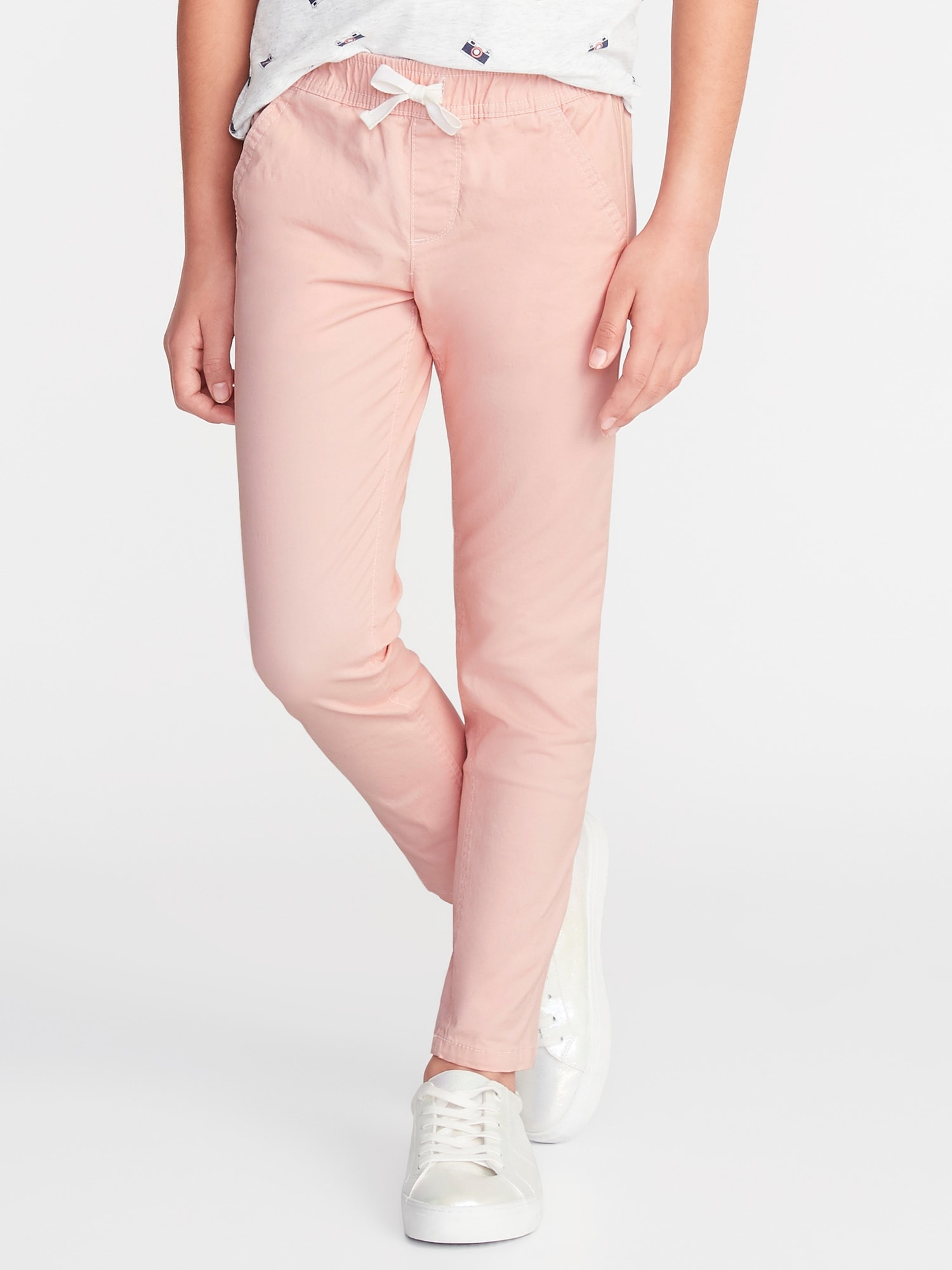 3644741695591 Twill Pull-On Anytime Chinos for Girls | Old Navy