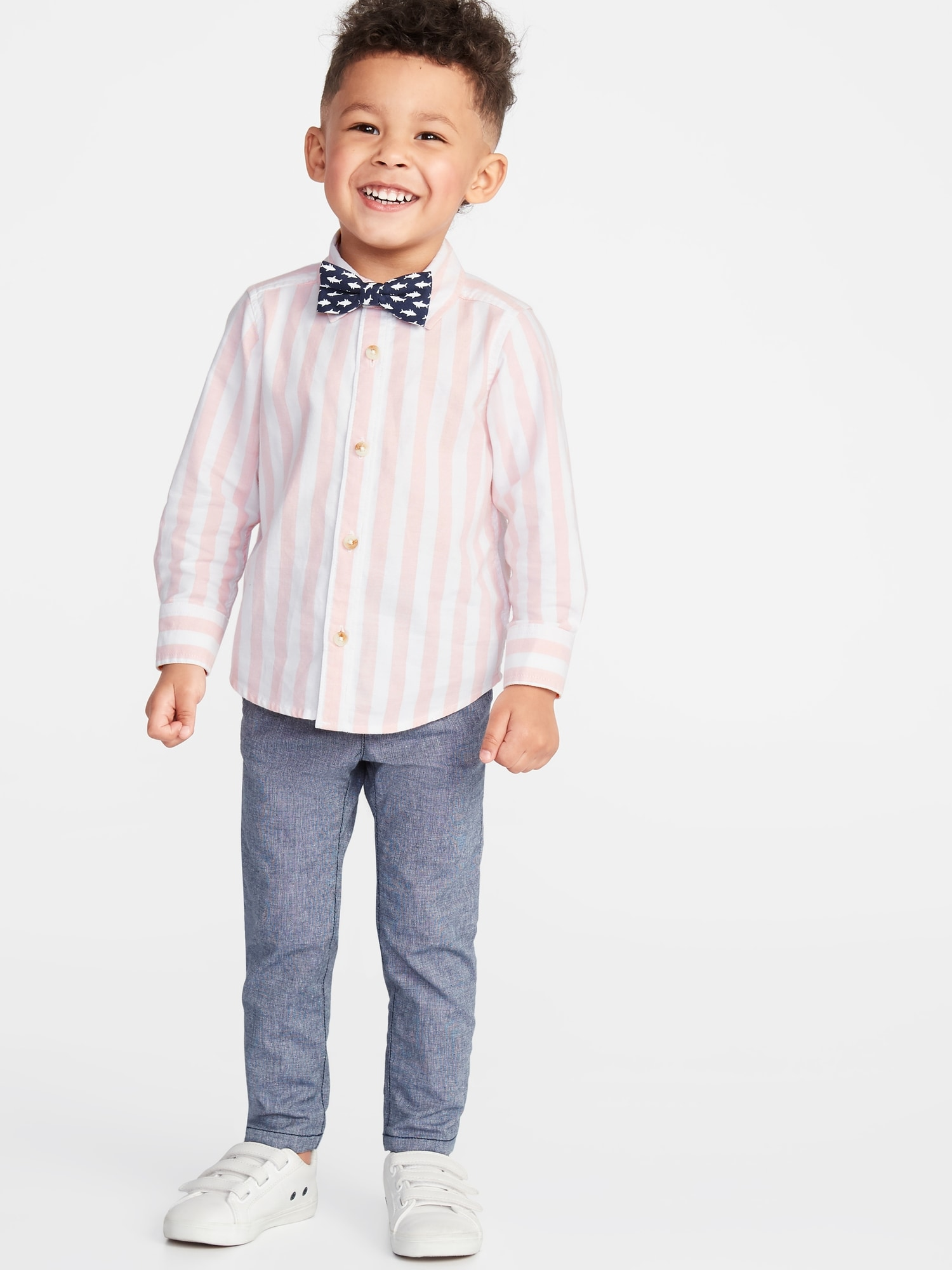 f004e7156996 Long-Sleeve Shirt & Printed Bow-Tie Set for Toddler Boys | Old Navy