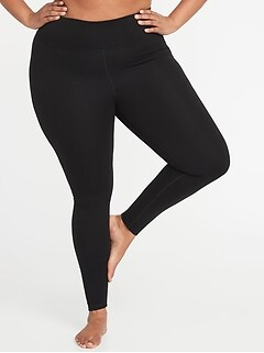 High-Waisted Plus-Size Yoga Leggings