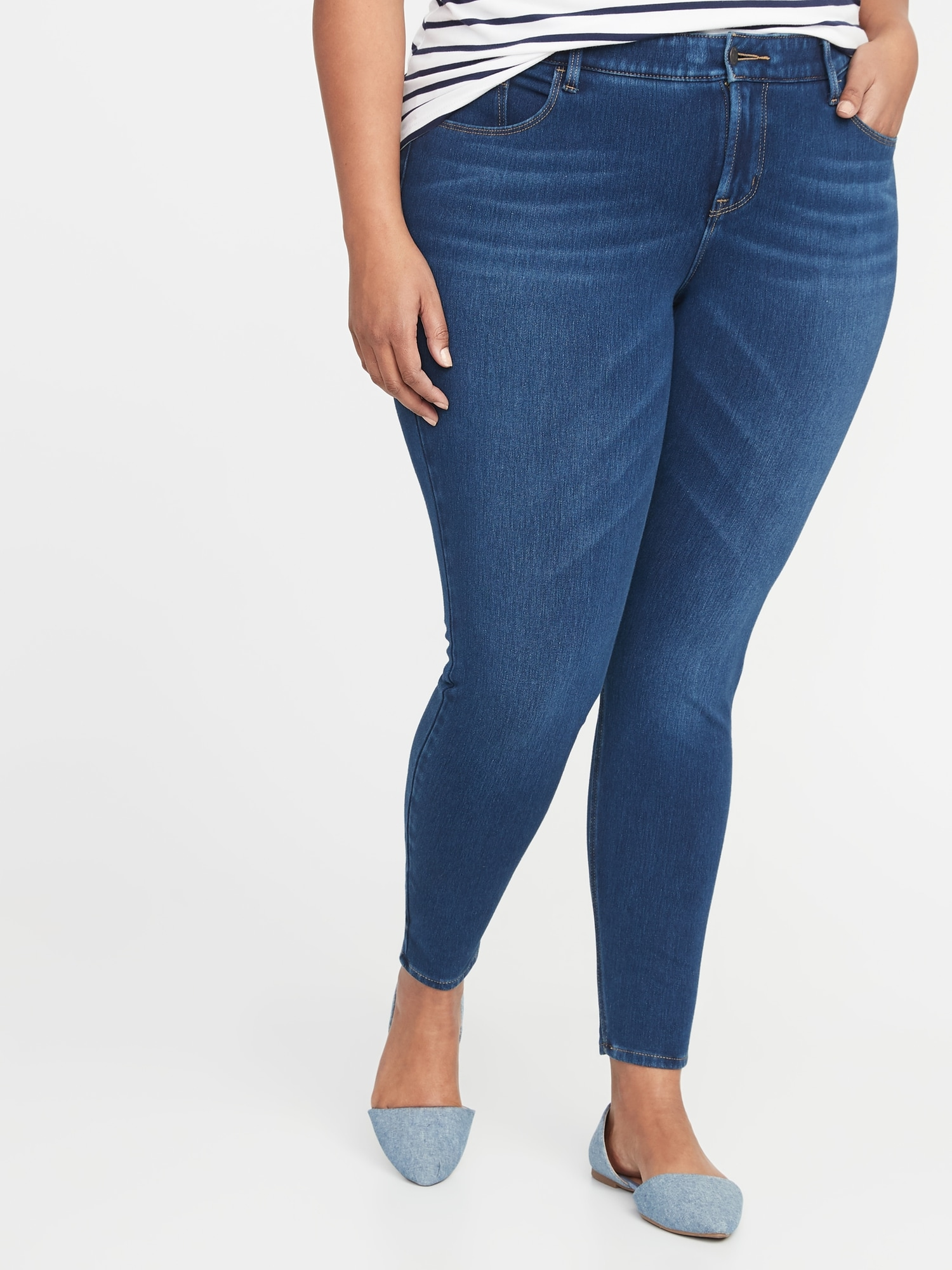 6d69f827da0 High-Rise Secret-Slim Pockets + Waistband Built-In Sculpt Plus-Size Rockstar  24 7 Jeans