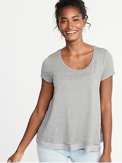 T-shirt de maternité et pour l'allaitement à deux épaisseurs