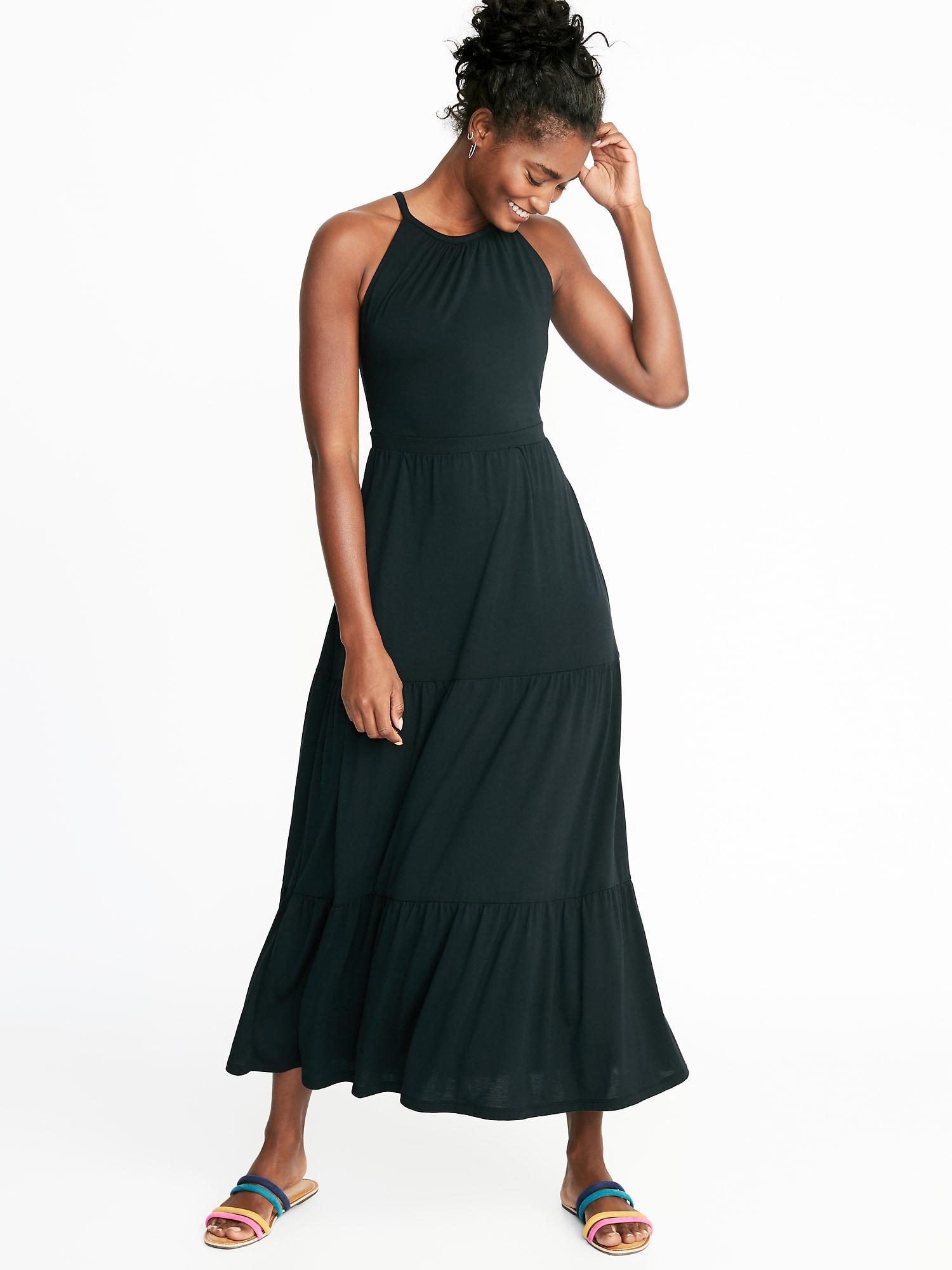 Dept Maxi Jurk.High Neck Waist Defined Maxi Dress For Women Old Navy