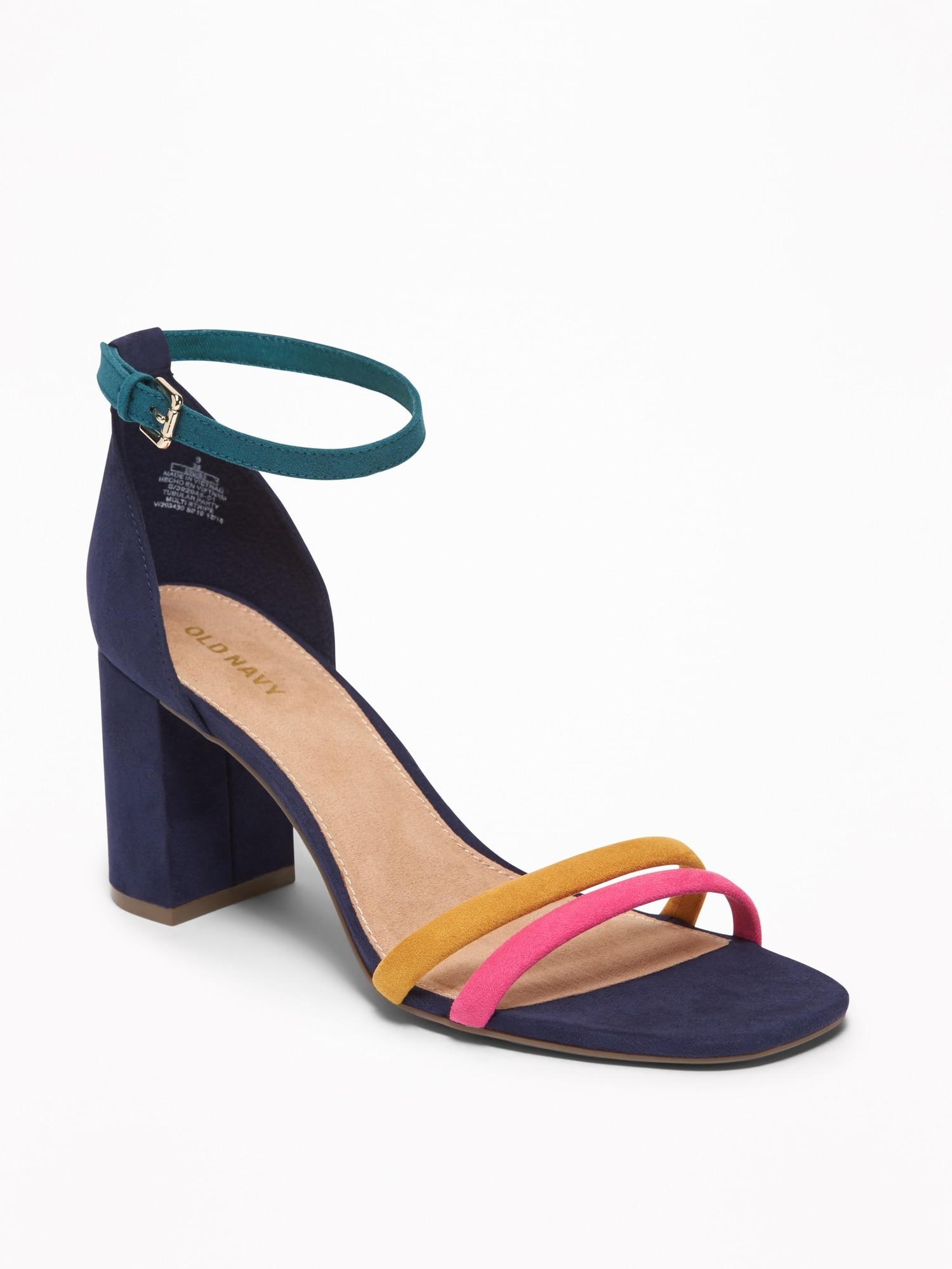 1b294562c58 Strappy Block-Heel Sandals for Women