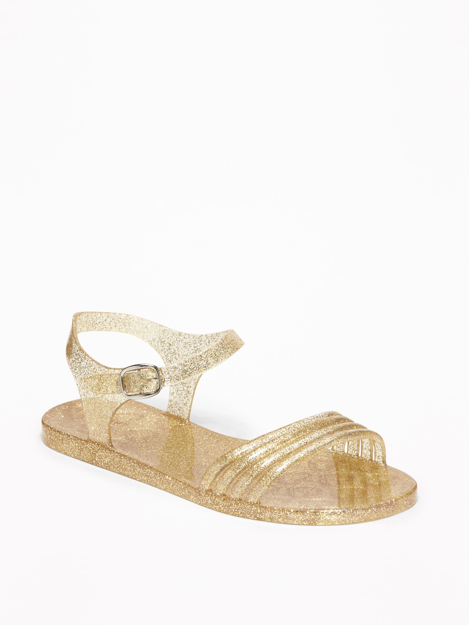 a1f2a4f11ff0 Strappy Glitter Jelly Sandals for Girls