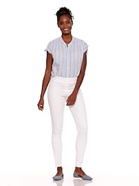 389a8c7db80 Mid-Rise White Rockstar Pull-On Jeggings for Women   Old Navy
