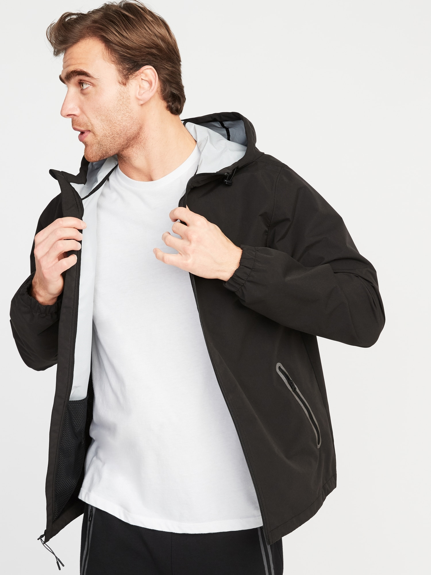 8ada63175d Go-H20 Water-Resistant Hooded Rain Jacket for Men