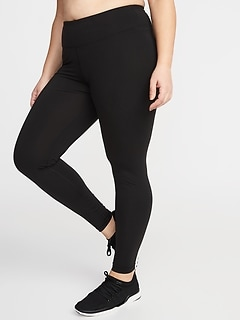 Legging de compression à taille haute, taille Plus