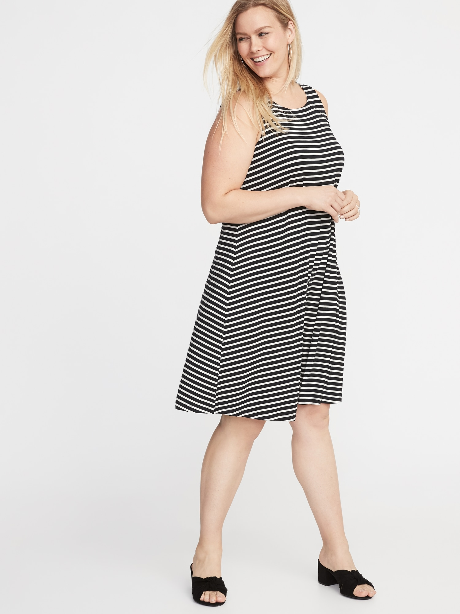 10ac49a6c Sleeveless Plus-Size Jersey Swing Dress | Old Navy