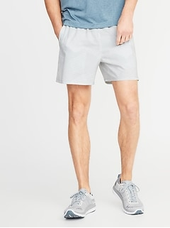 Quick-Drying 4-Way Stretch Printed Run Shorts for Men - 5-inch inseam