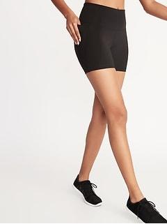Short de vélo de compression à taille haute et poches latérales pour femme (entrejambe de 13cm)