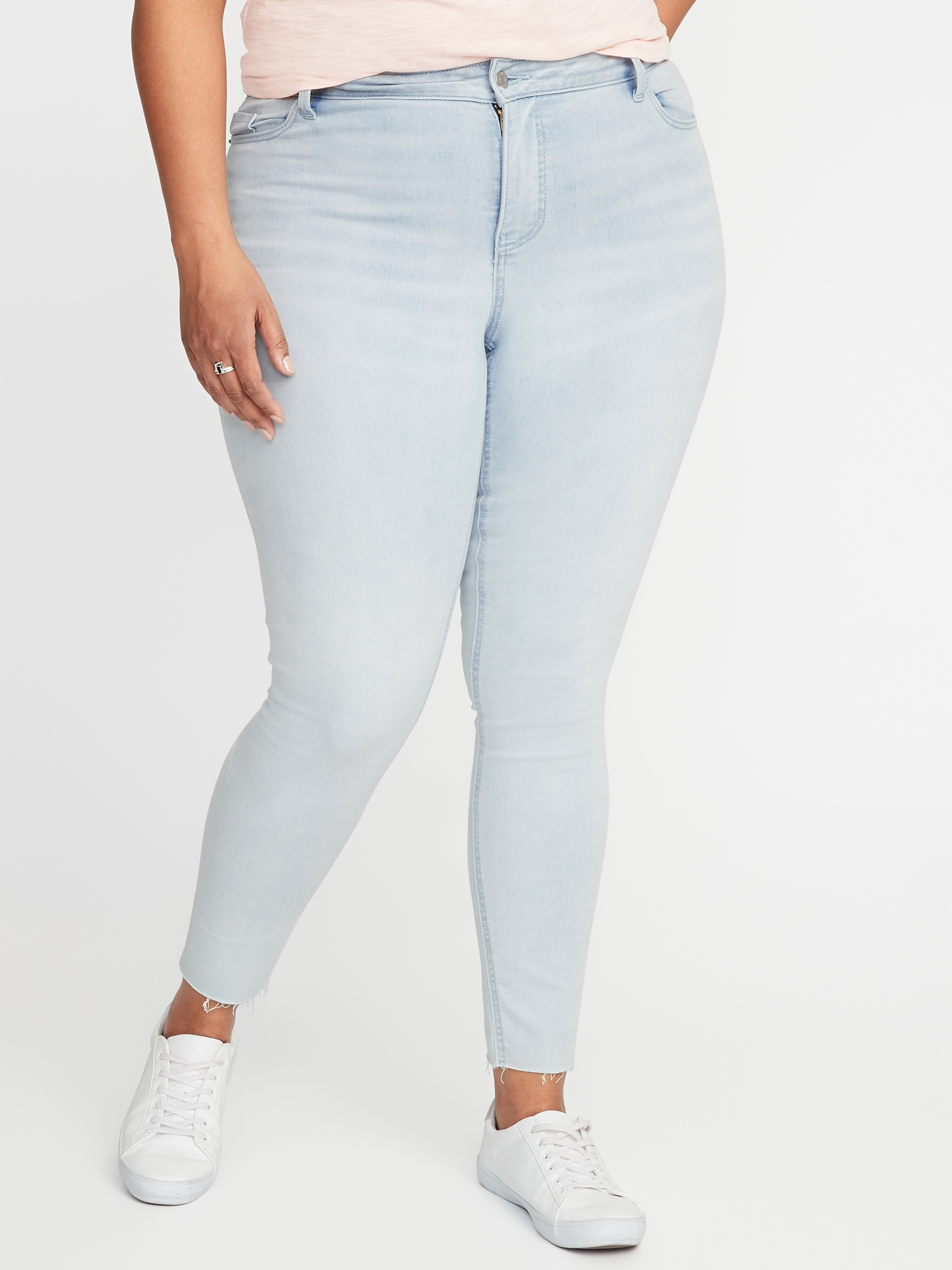 e0ac1b8aed5 High-Rise Secret-Slim Pockets Plus-Size Rockstar Jeans