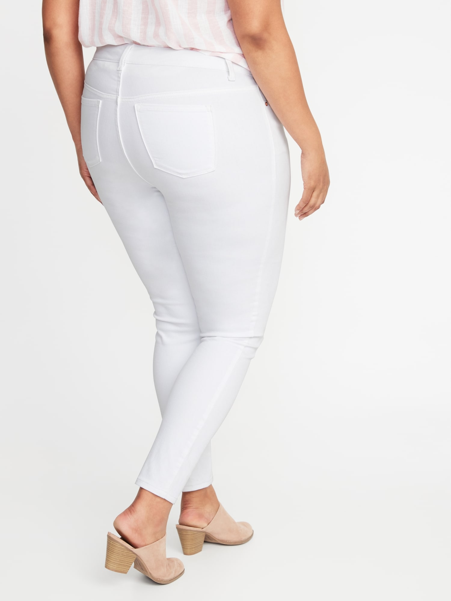 c13ae4a37f9 High-Rise Secret-Slim Pockets Plus-Size Rockstar Super Skinny White Jeans