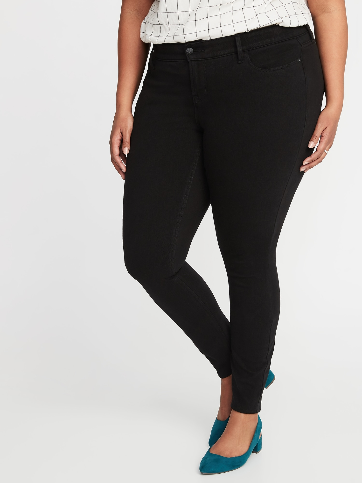 1232edfd19d5db High-Rise Plus-Size Secret-Slim Pockets + Waistband 24/7 Sculpt Rockstar  Jeans