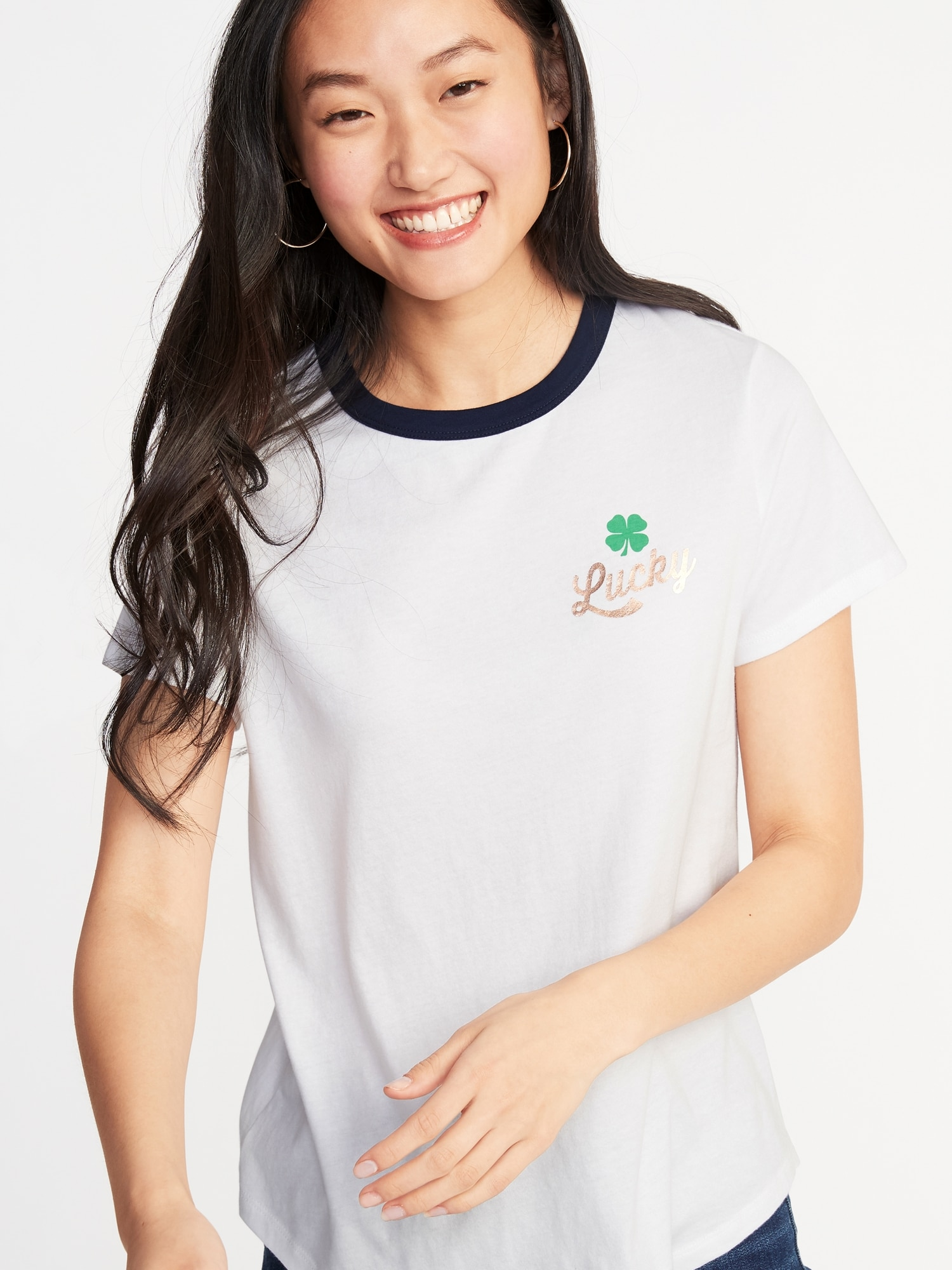 ad374e404fd2 EveryWear St. Patrick s Day Graphic Tee for Women