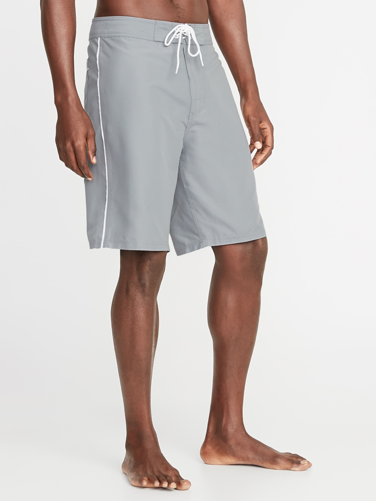 cefcc448a9 Side-Piping Board Shorts for Men - 10-inch inseam   Old Navy