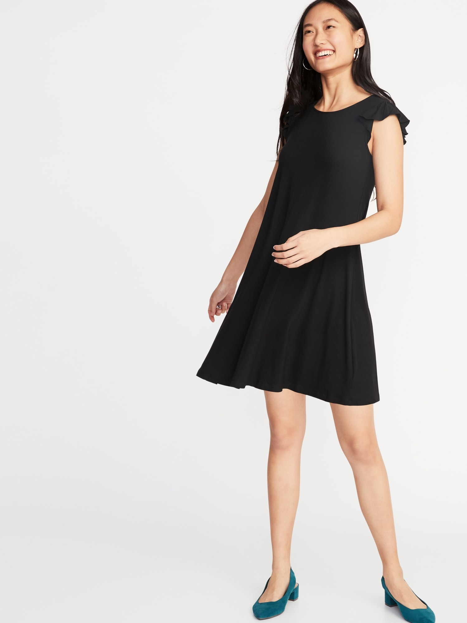 a9ab8a6726d24 Flutter-Sleeve Jersey Swing Dress for Women | Old Navy