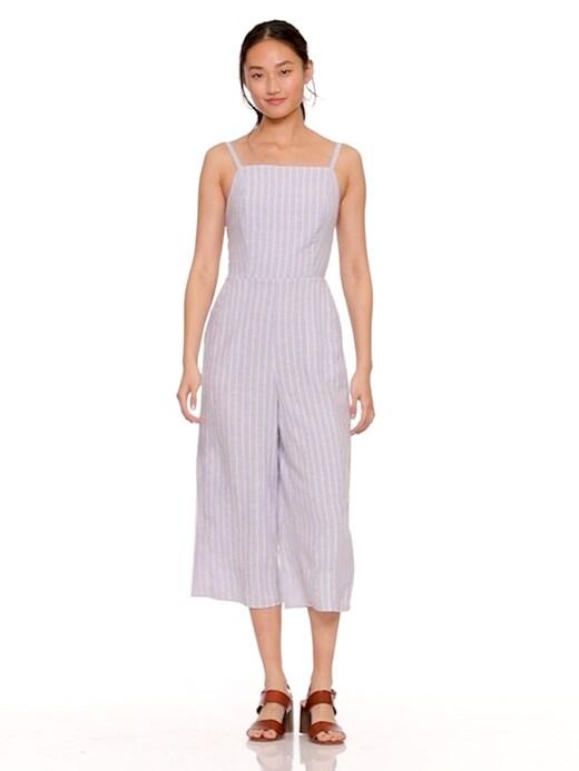 48a232ef0b9 Striped Linen-Blend Cami Jumpsuit for Women