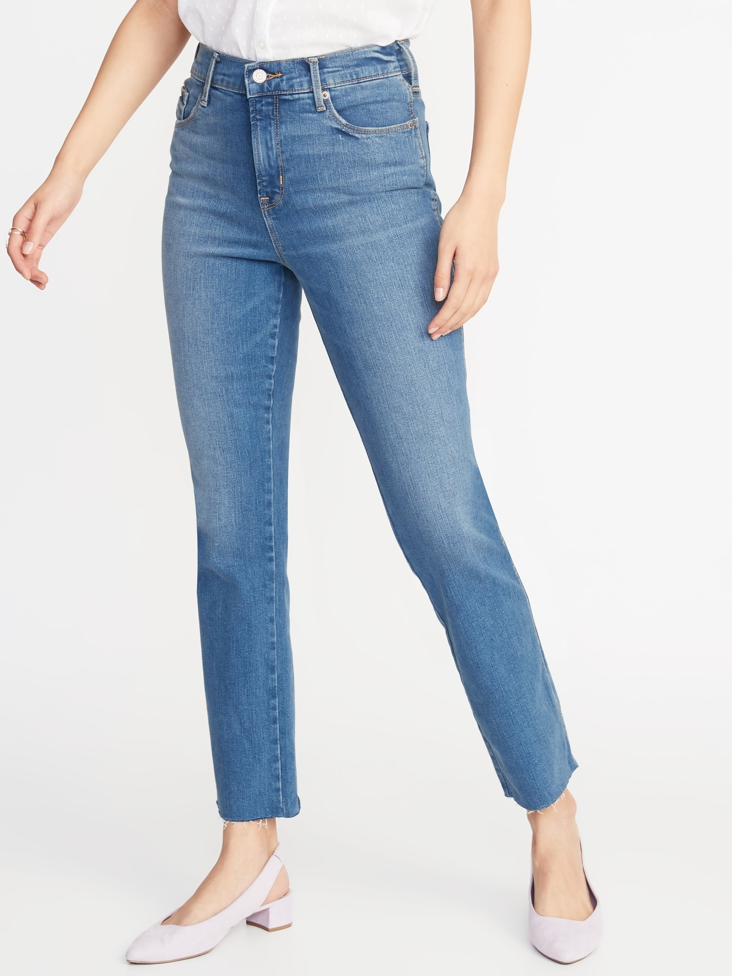 6c695462353 High-Rise Secret-Slim Pockets Flare Ankle Jeans for Women