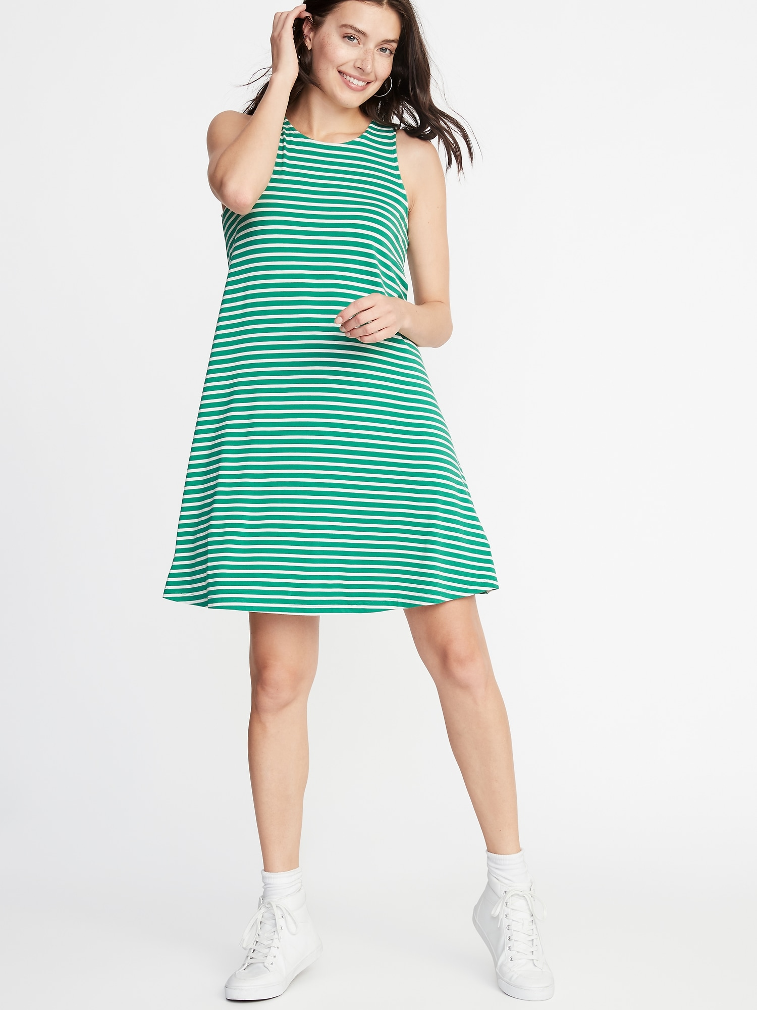 bed596fac Sleeveless Jersey Swing Dress for Women | Old Navy