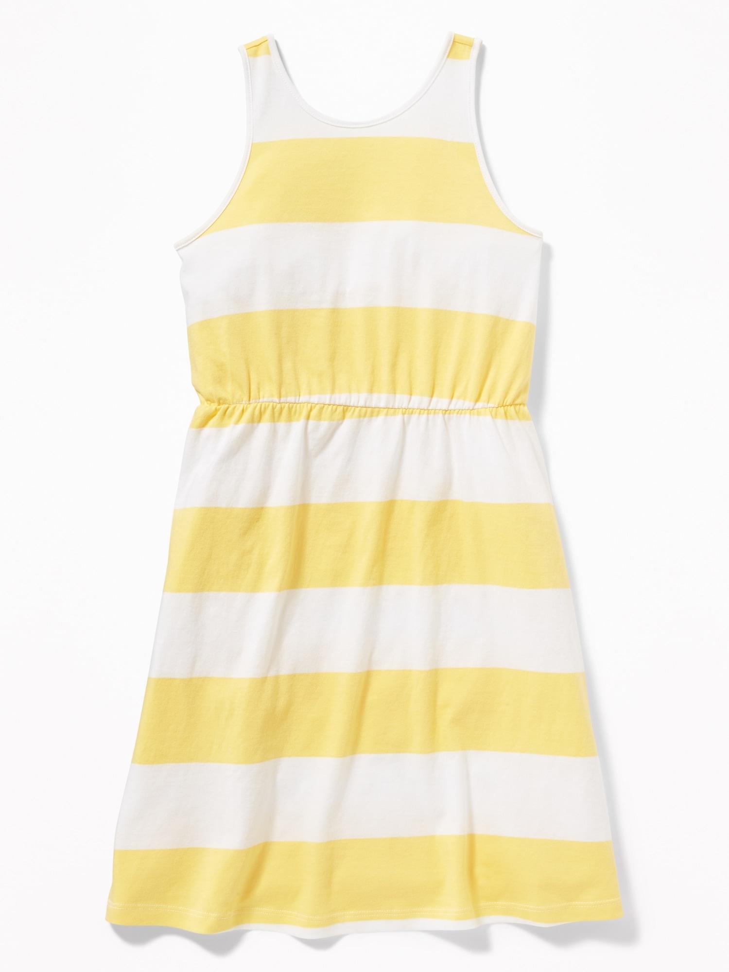 6ba1689c9 Patterned Jersey Fit   Flare V-Back Dress for Girls
