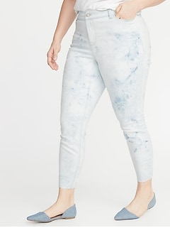 High-Waisted Secret-Slim Pockets Dip-Dye Rockstar Plus-Size Super Skinny Ankle Jeans