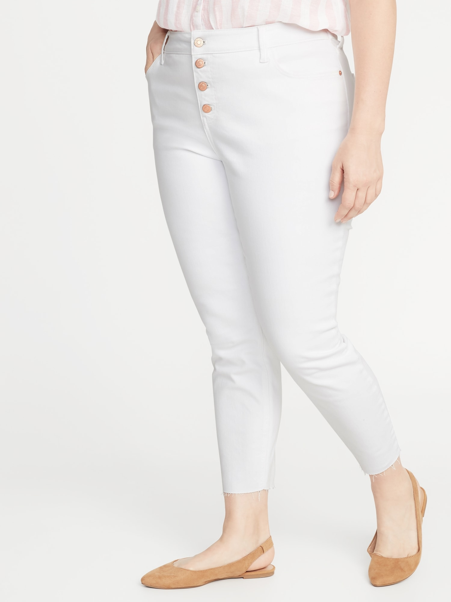 c6ec566d7a7d4d High-Rise Secret-Slim Pockets Plus-Size Button-Fly Cropped Rockstar Jeans