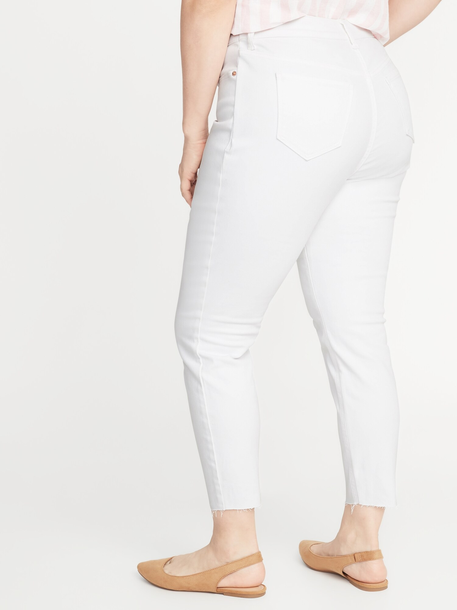 4998603acd69 High-Rise Secret-Slim Pockets Plus-Size Button-Fly Cropped Rockstar Jeans
