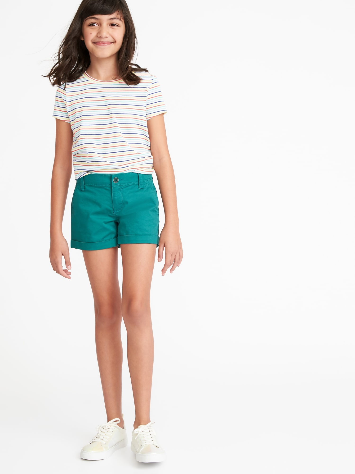 5b330ad313f Twill Chino Shorts for Girls