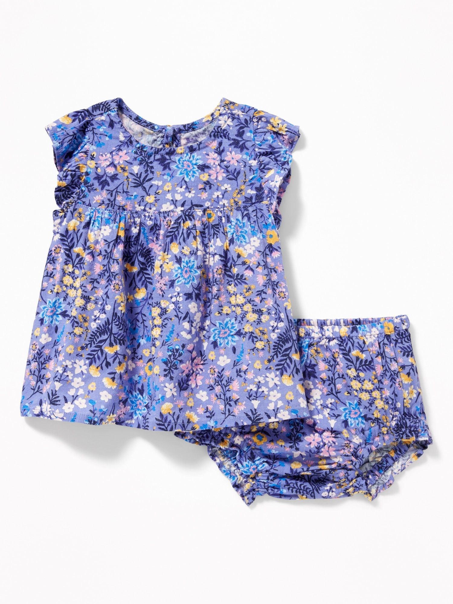 25fecc84cd479 Flutter-Sleeve Top & Ruffled Bloomers Set for Baby | Old Navy