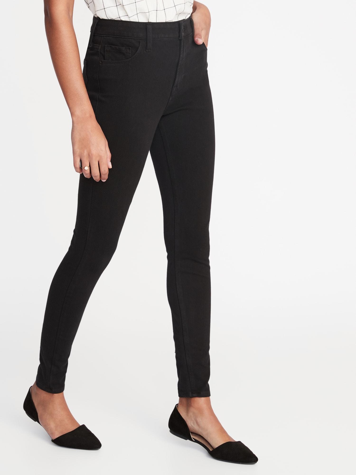 a418b745df616 High-Rise Rockstar 24/7 Sculpt Super Skinny Black Jeans for Women ...