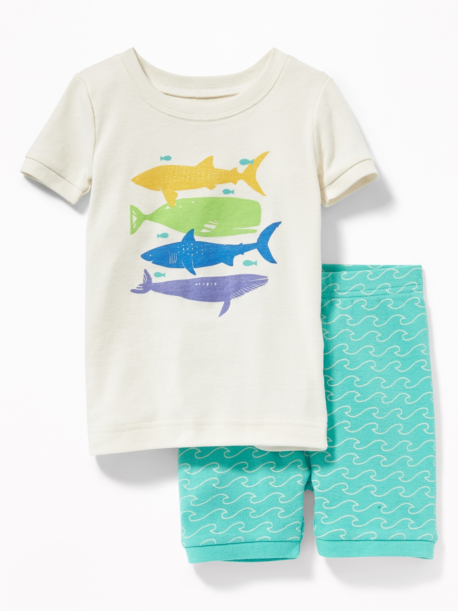 Baby Gap Pj/'s Boys Size 4 Short Sleeves /& Shorts Navy Sharks