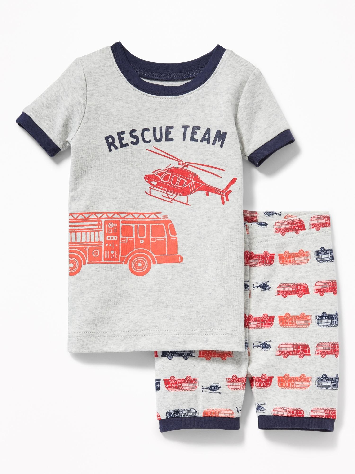 Toddler Boys Size 2 Years 2T Gray Construction Pajamas PJ Sleep Set GAP Baby
