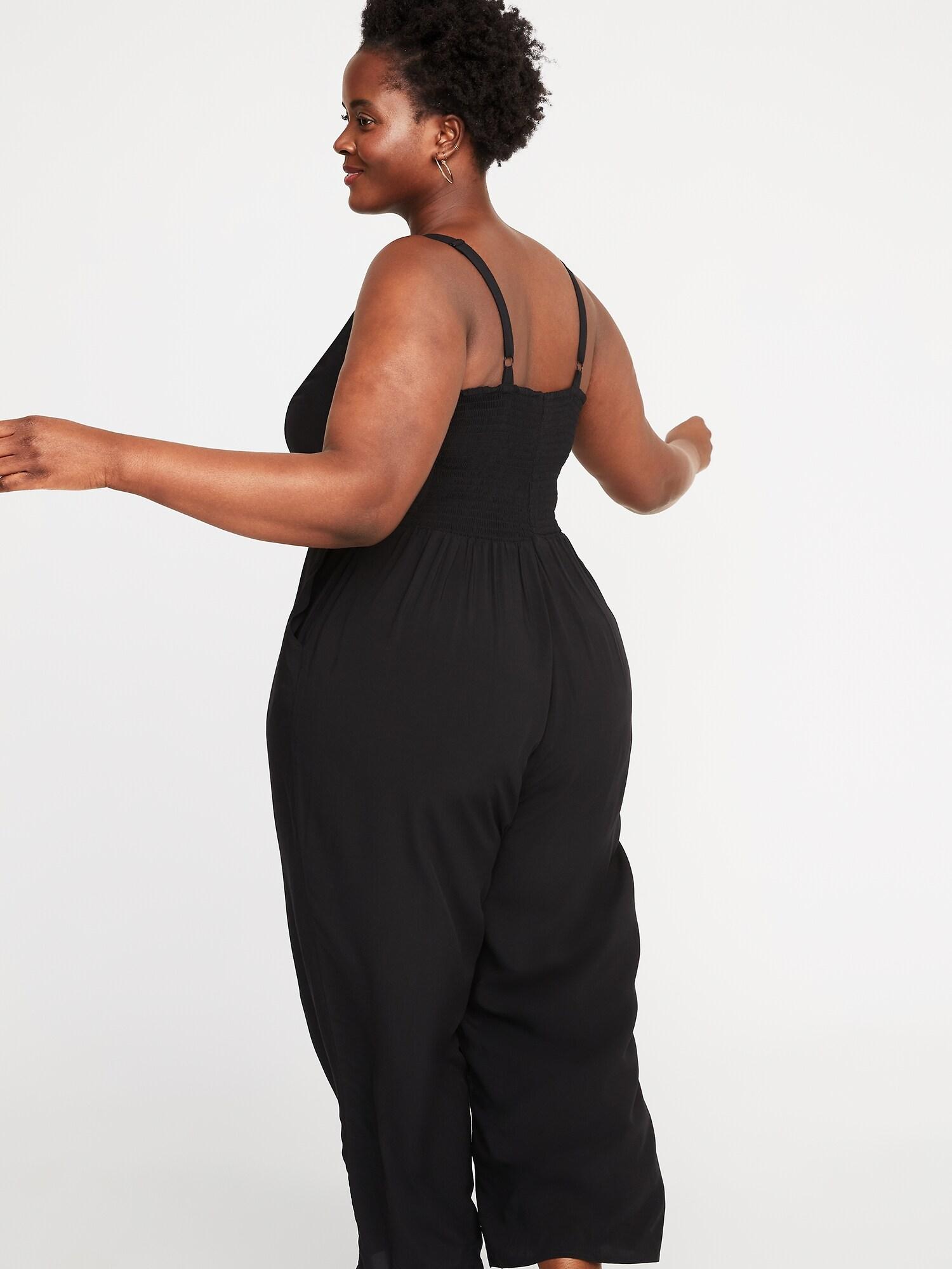 bdf9074960 Square-Neck Plus-Size Cami Jumpsuit
